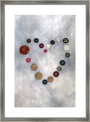 Heart Of Buttons Framed Print by Joana Kruse
