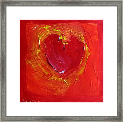Heart Of Cupids Joy At The Moment Of Transformation Dripping Oozing Love When Pierced With Open Fear Framed Print by ImQueer AndLoveIt