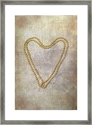 Heart Of Pearls Framed Print by Joana Kruse