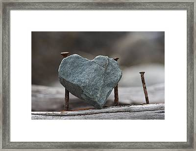 Heart Of Stone Framed Print by Cathie Douglas