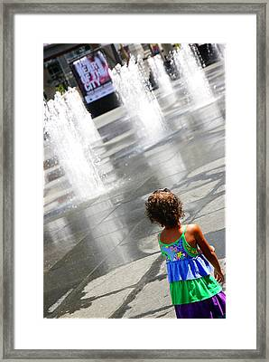 Heart Of The City Framed Print by Valentino Visentini