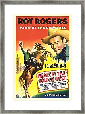 Heart Of The Golden West, Roy Rogers Framed Print by Everett