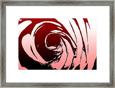 Framed Print featuring the photograph Heart Of The Rose by Lauren Radke