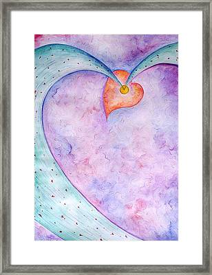 Heart Of The Universe Framed Print by Asida Cheng