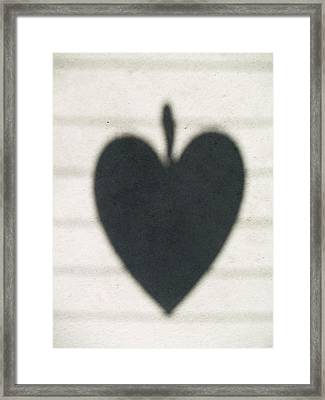 Heart On Wire I Framed Print by Laine Zunte