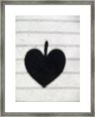 Heart On Wire II Framed Print by Laine Zunte