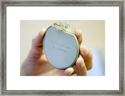 Heart Pacemaker Demonstration Model Framed Print by Arno Massee