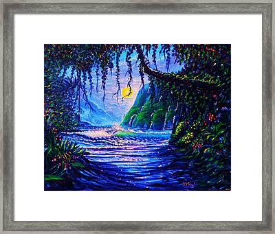Heart Path To Paradise Framed Print
