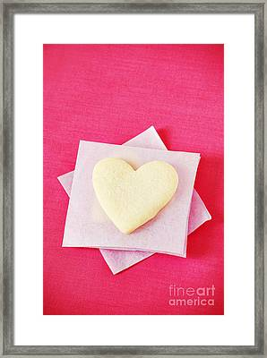 Heart-shaped Cookie Framed Print