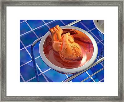 Heart Surgery, Artwork Framed Print by Laguna Design