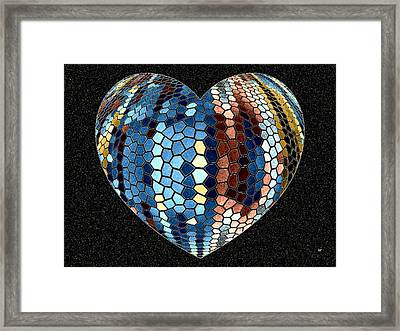 Heartline 4 Framed Print by Will Borden