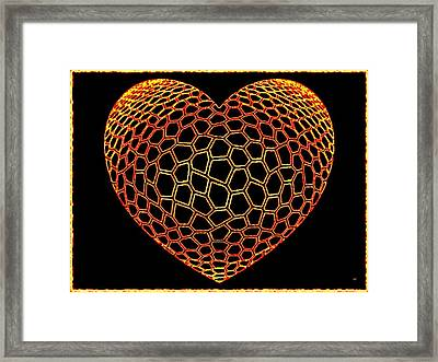 Heartline 9 Framed Print