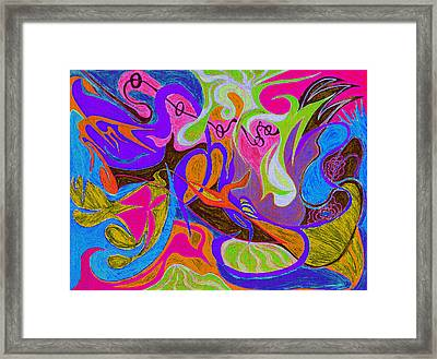 Hearts - Thorn's And A Flower  Framed Print by Kenneth James