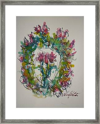 Hearts Fever Framed Print by Edward Wolverton