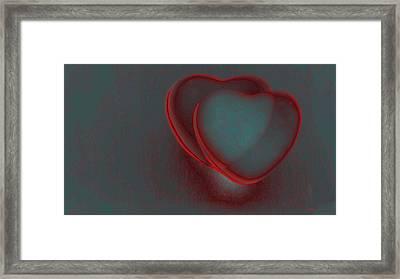 Hearts-r Framed Print by Ines Garay-Colomba