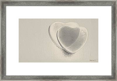 Hearts-smooth Framed Print by Ines Garay-Colomba