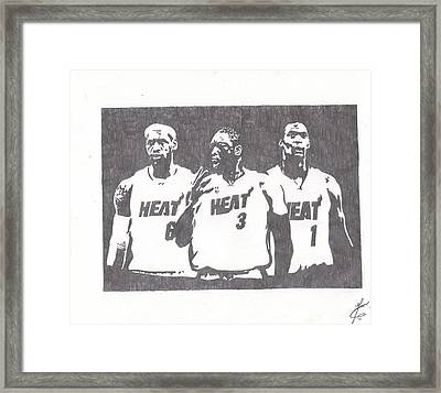 Heat Framed Print by Nick Theodor