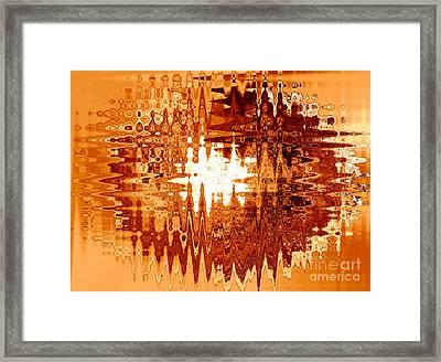 Heat Wave - Abstract Art Framed Print