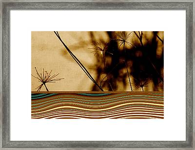 Heat Waves Framed Print