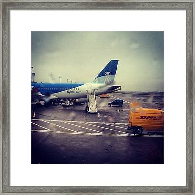 #heathrow #london #airport #airplane Framed Print