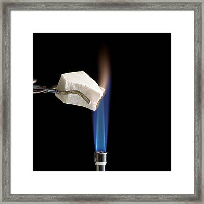 Heating Marble Framed Print by