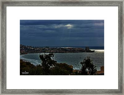 Heavely Spotlights Framed Print by Russ Harris