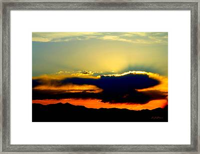 Framed Print featuring the photograph Heaven Is Watching by Jeanette C Landstrom