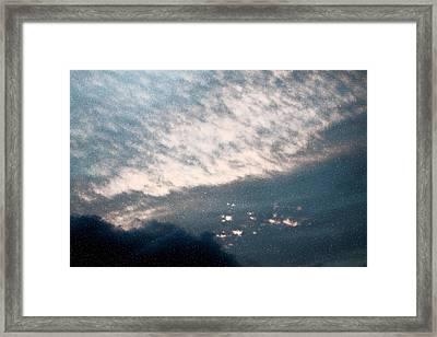 Heaven Left A Light On Framed Print by Elizabeth  Doran