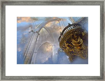 Heavenly Cathedral Framed Print by John  Bartosik