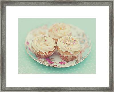 Heavenly Cupcakes Framed Print by Karin A photography