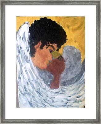 Heavenly Embrace Framed Print by Violette Meier