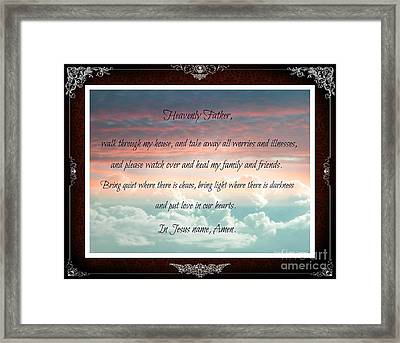Heavenly Father Prayer Framed Print