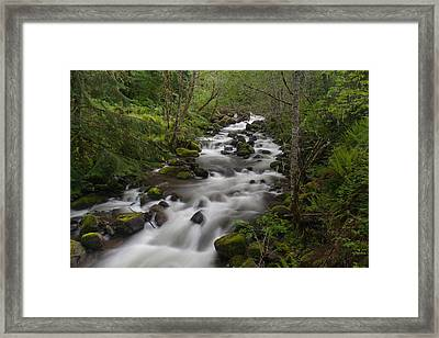 Heavenly Flow Framed Print by Mike Reid