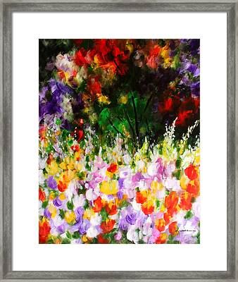 Framed Print featuring the painting Heavenly Garden by Kume Bryant