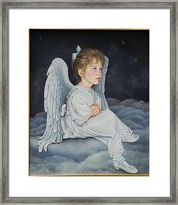 Heavenly Messanger -mahalahk Framed Print by Ruth Gee