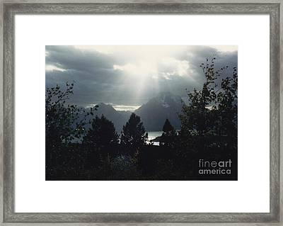 Heavenly Rays Framed Print by Barbara Plattenburg