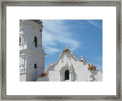 Heavenly Roofline Framed Print