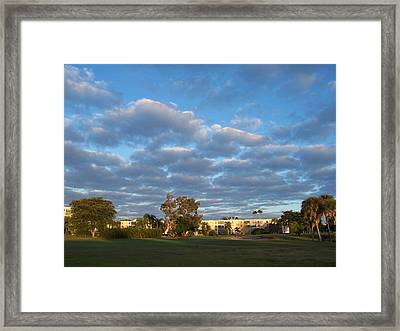 Heavenly Sky Framed Print by Sheila Silverstein