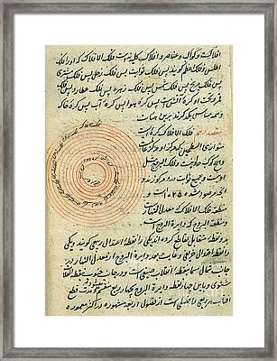 Heavenly Spheres, Islamic Astronomy Framed Print by Science Source