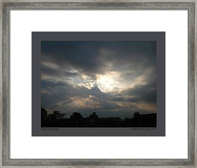 Framed Print featuring the photograph Heavenly Splendor by Patricia Overmoyer