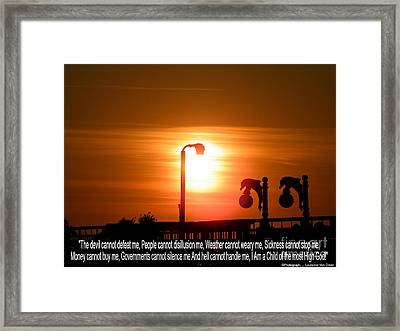 Heavenly Sun Lamp Framed Print by Laurence Oliver