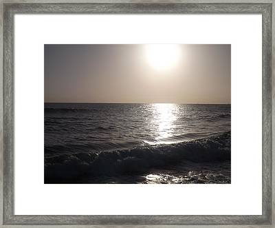 Heavenly Sunset Framed Print by Jamie Diamond