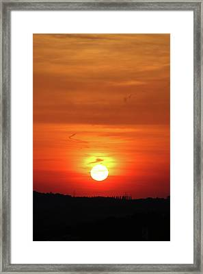 Heavenly Sunset Framed Print by Mariola Bitner
