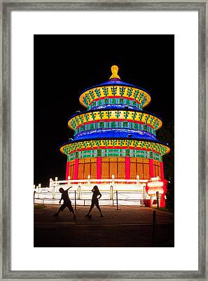 Heavenly Temple Framed Print by Semmick Photo