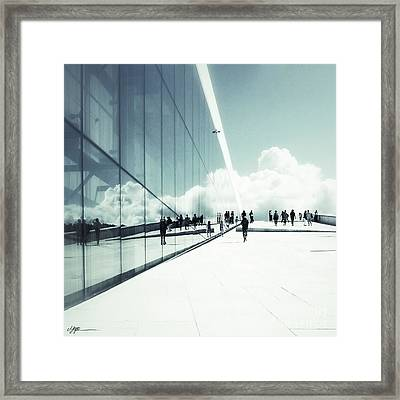 Heavenly Walk In Oslo 2 Framed Print by Marianne Hope