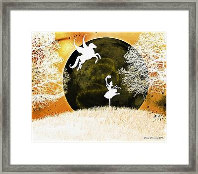 Framed Print featuring the digital art Heaven's Ascent by Mary Morawska