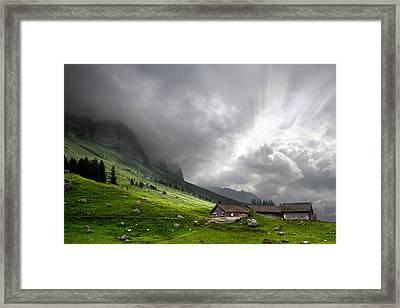 Heaven's Gate Framed Print by Debra and Dave Vanderlaan
