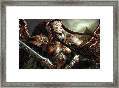 Heaven's Sword Framed Print by Melissa Krauss