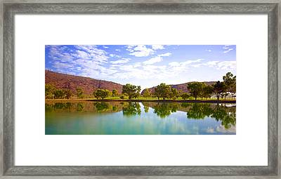 Heavitree Gap Reflected Framed Print