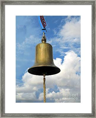Heavy Bronze Bell Framed Print by Yali Shi